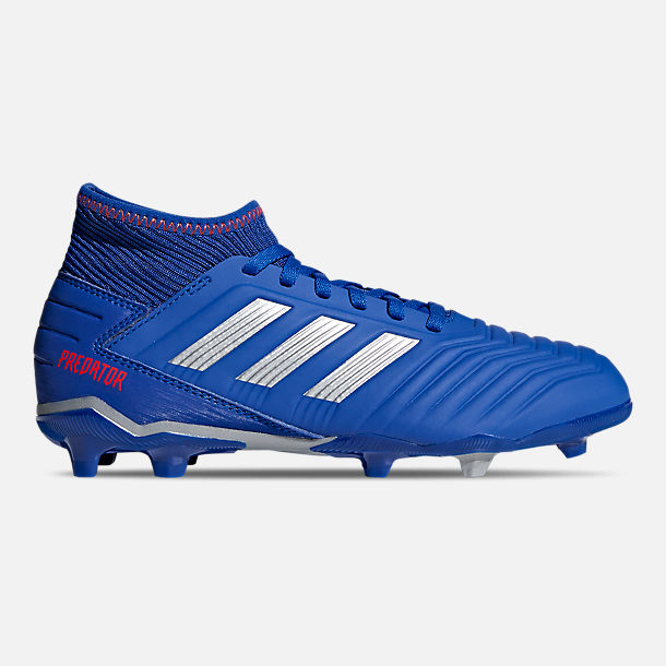Right view of Little Kids  adidas Predator 19.3 Firm Ground Soccer Cleats  in Bold Blue 4871084563b