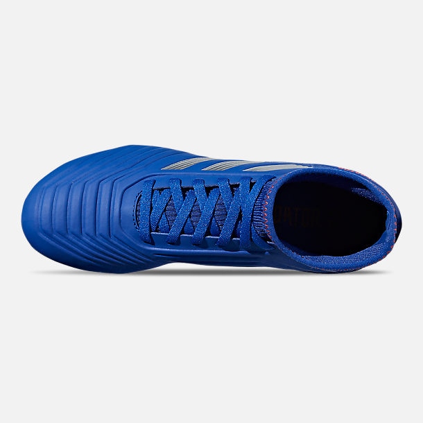 Top view of Little Kids  adidas Predator 19.3 Firm Ground Soccer Cleats in Bold  Blue 586dc00fff6