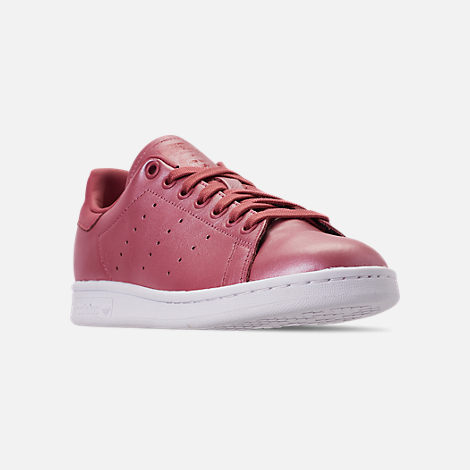 Three Quarter view of Women's adidas Originals Stan Smith Casual Shoes in Trace Maroon