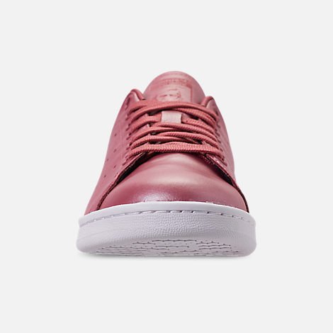 Front view of Women's adidas Originals Stan Smith Casual Shoes in Trace Maroon