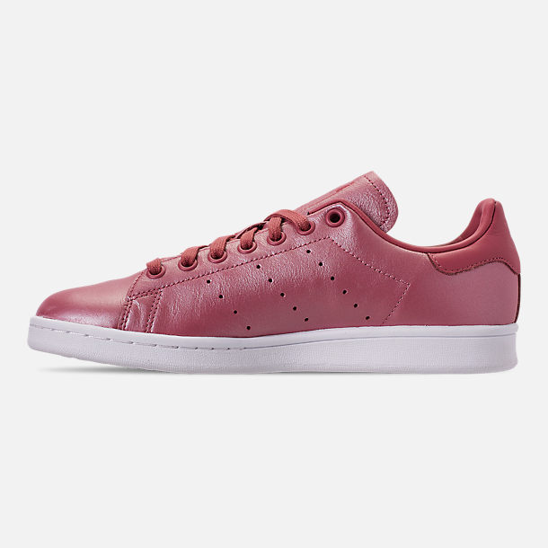 Left view of Women's adidas Originals Stan Smith Casual Shoes in Trace Maroon