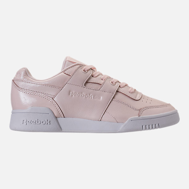 Right view of Women's Reebok Workout Plus Iridescent Casual Shoes in Sandstone/White