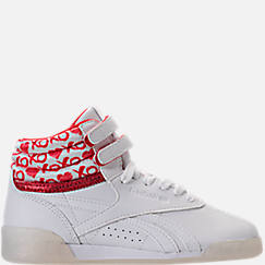 Girls' Preschool Reebok Freestyle Hi Hearts Casual Shoes