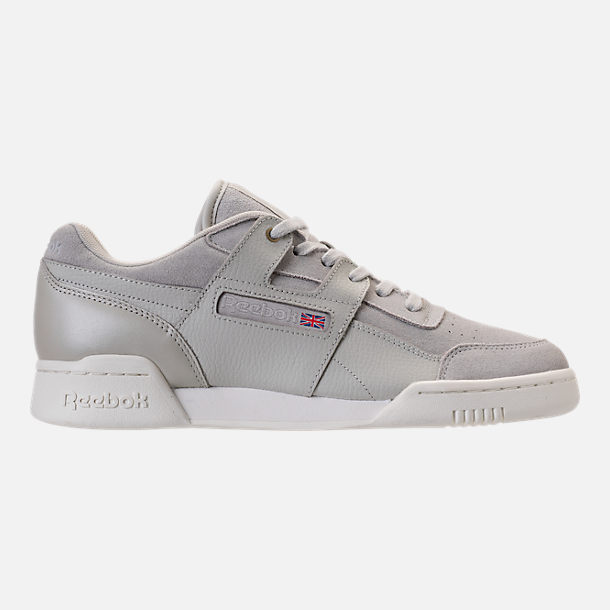 Right view of Men's Reebok Workout Plus MCC Casual Shoes in Marble/Chalk