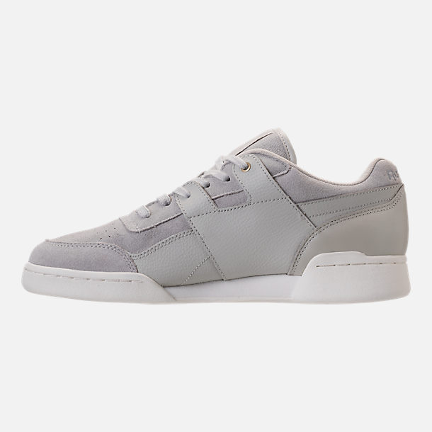 Left view of Men's Reebok Workout Plus MCC Casual Shoes in Marble/Chalk