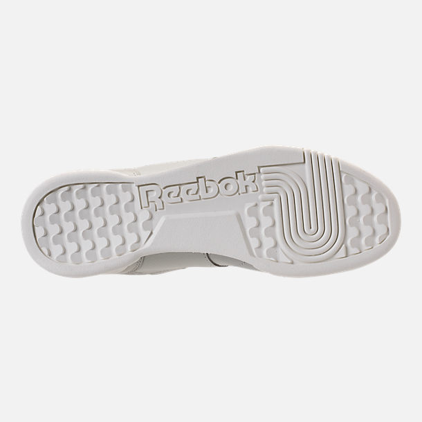 Bottom view of Men's Reebok Workout Plus MCC Casual Shoes in Marble/Chalk