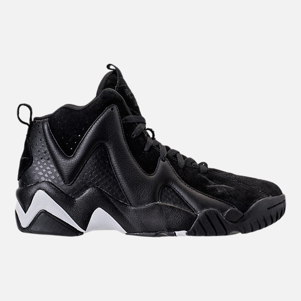 Right view of Men's Reebok Kamikaze II ATL-LAX Casual Shoes in Black/White