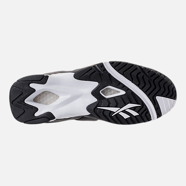 Bottom view of Men's Reebok Kamikaze II ATL-LAX Casual Shoes in Black/White