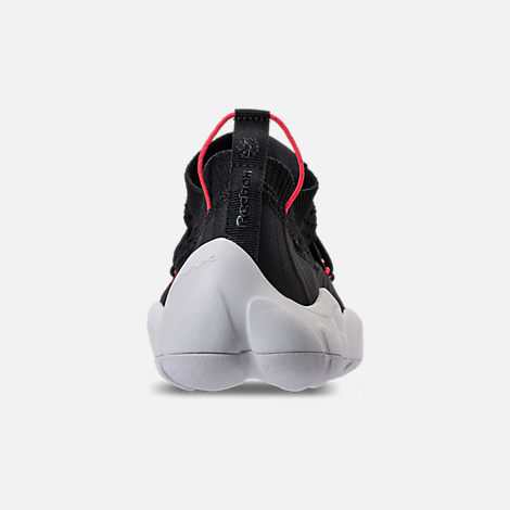 Back view of Men's Reebok Classics DMX Fusion NR Casual Shoes in Black/White/Neon Cherry