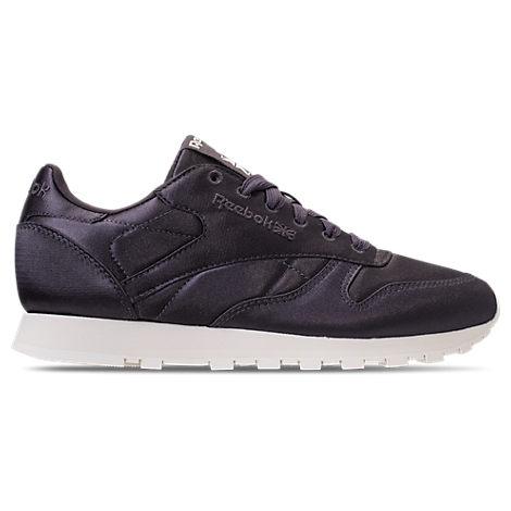 Shoes Classic Casual Reebok Purple Leather Women's Modesens Satin nXwOOq5I