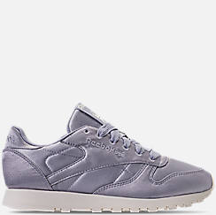 Women's Reebok Classic Leather Satin Casual Shoes