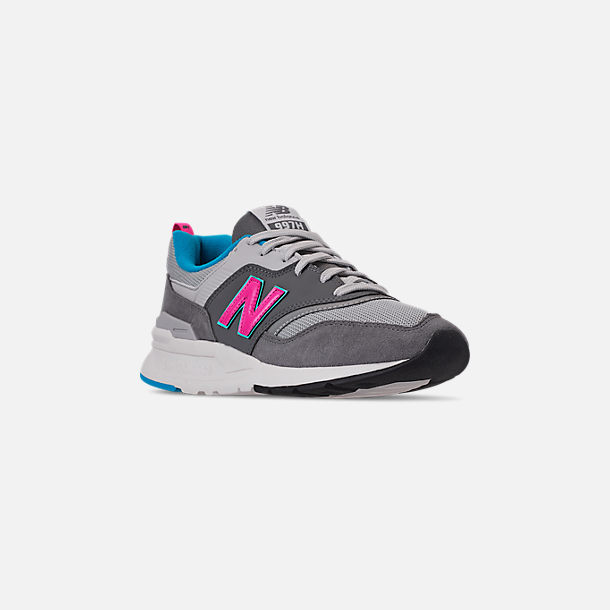 Three Quarter view of Men's New Balance 997H Casual Shoes in Castlerock/Peony