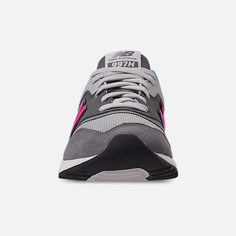 Front view of Men's New Balance 997H Casual Shoes in Castlerock/Peony