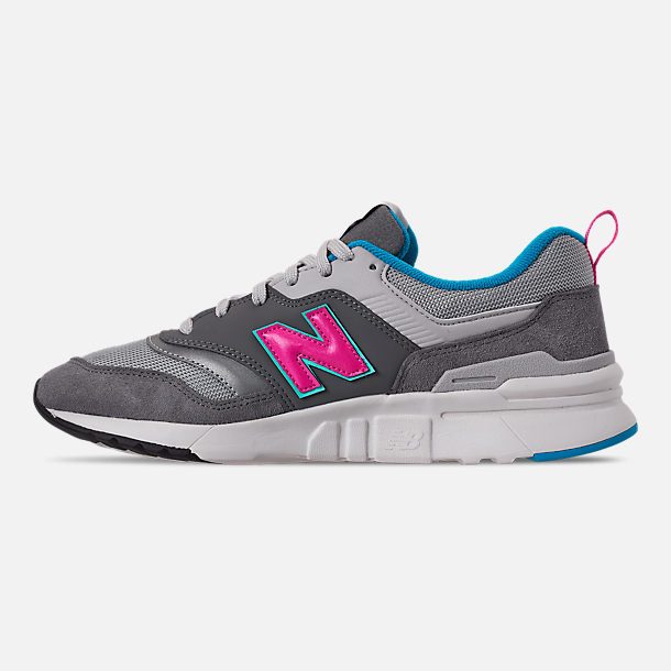 Left view of Men's New Balance 997H Casual Shoes in Castlerock/Peony