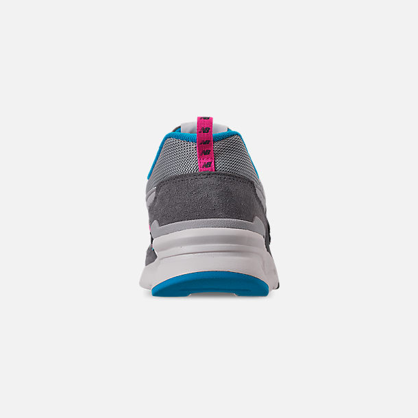 Back view of Men's New Balance 997H Casual Shoes in Castlerock/Peony