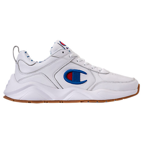 Champion CHAMPION MEN'S 93EIGHTEEN LEATHER EMBROIDERY CASUAL SHOES IN WHITE SIZE 13.0