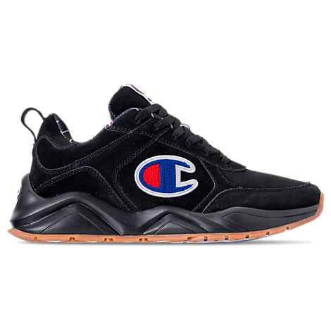 Champion MEN'S 93EIGHTEEN SUEDE CHENILLE CASUAL SHOES, BLACK - SIZE 11.0