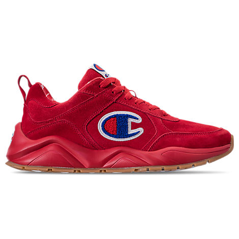41d5f8f6f Champion Men S 93Eighteen Suede Chenille Athletic Training Sneakers From  Finish Line In Red