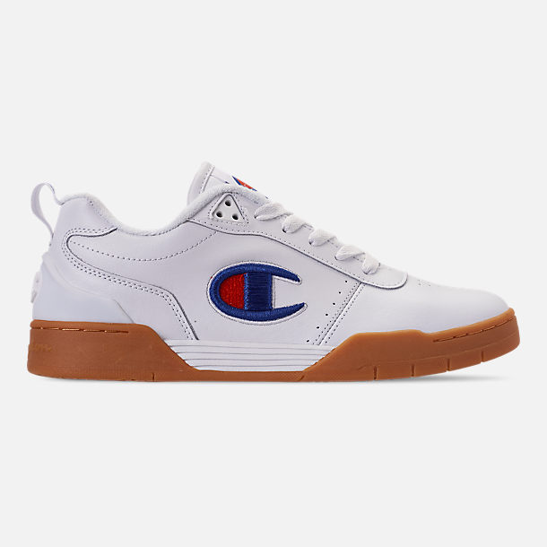 Right view of Men's Champion Court Classic Casual Shoes in White/Gum