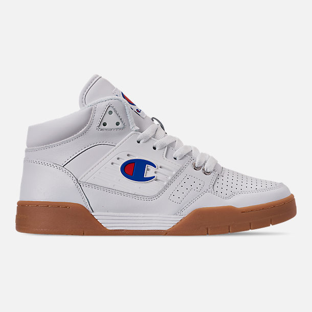 Right view of Men's Champion 3 on 3 Casual Shoes in White/Gum