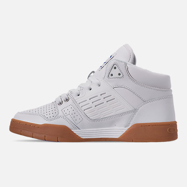 Left view of Men's Champion 3 on 3 Casual Shoes in White/Gum