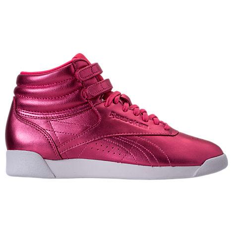 Reebok Women S Freestyle Hi Metallic Casual Shoes 9859de47f