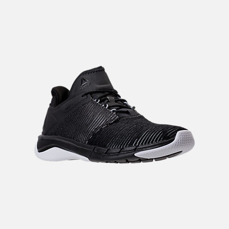 Three Quarter view of Women's Reebok Flexweave Run Running Shoes in Black