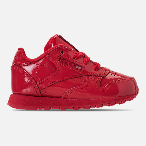 Right view of Girls' Toddler Reebok Classic Leather Casual Shoes in Red
