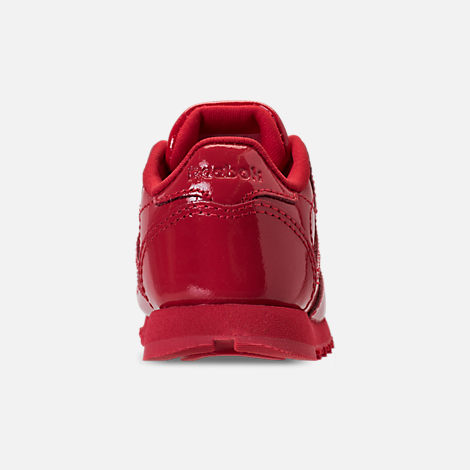 Back view of Girls' Toddler Reebok Classic Leather Casual Shoes in Red