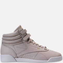Girls' Grade School Reebok Freestyle Hi Muted Casual Shoes