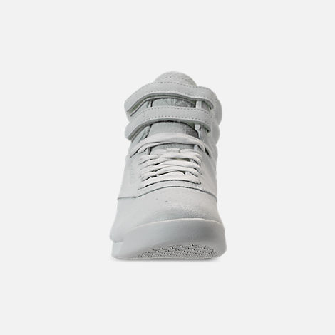 2521e44ef5f Front view of Women s Reebok Freestyle Hi Casual Shoes in White
