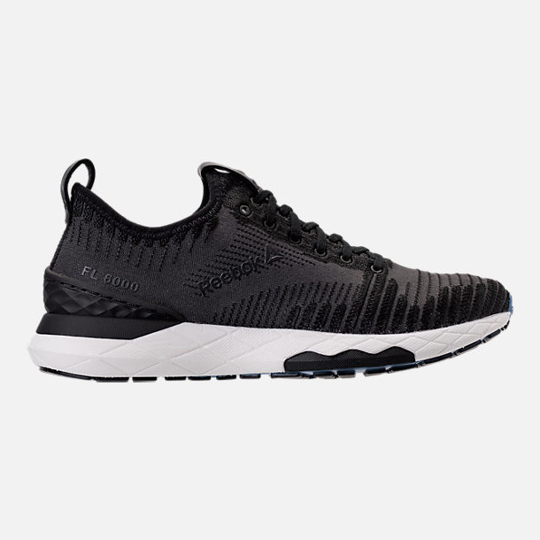Right view of Women's Reebok Floatride Run 6000 Running Shoes in Black/Coal/White