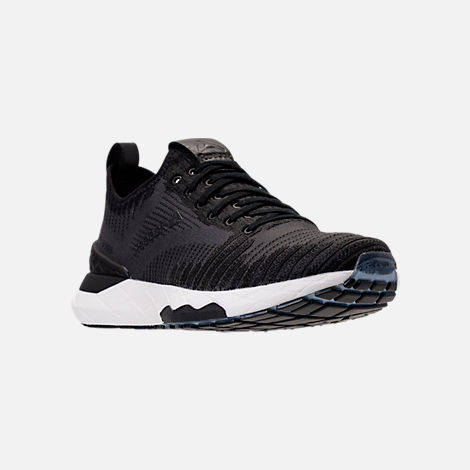 Three Quarter view of Women's Reebok Floatride Run 6000 Running Shoes in Black/Coal/White