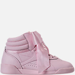 Girls' Preschool Reebok Freestyle Hi Satin Bow Casual Shoes
