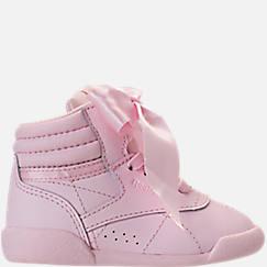 Girls' Toddler Reebok Freestyle Hi Satin Bow Casual Shoes