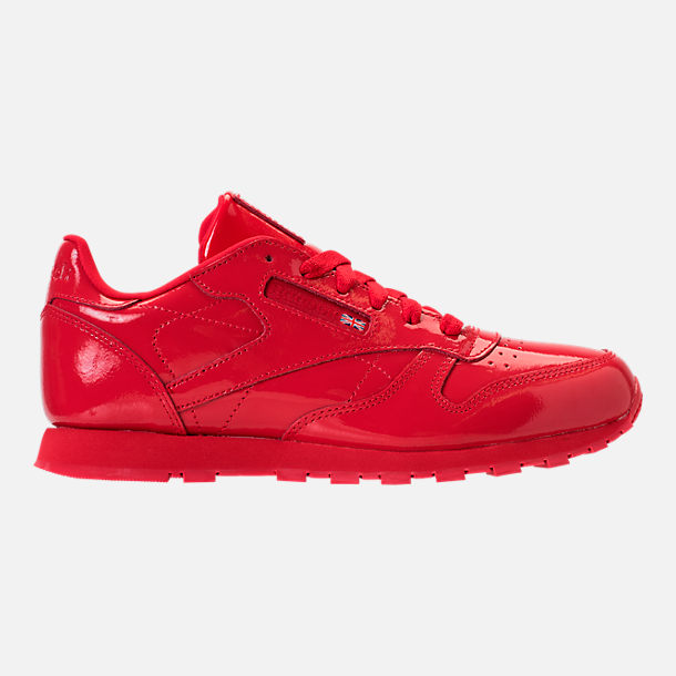 Right view of Girls' Grade School Reebok Classic Leather Casual Shoes in Red