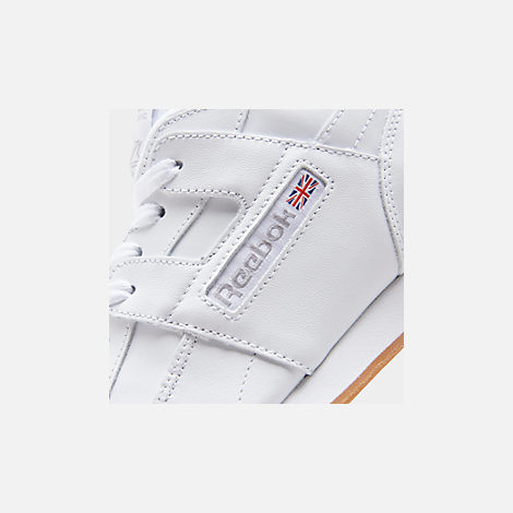 3c13a0e9b0d Front view of Men s Reebok Workout Plus Casual Shoes in White Carbon Classic  Red