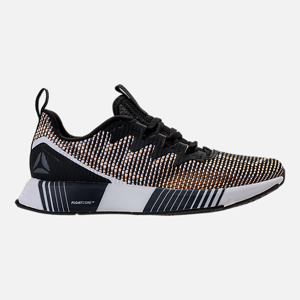 Right view of Women's Reebok Fusion Flexweave Training Shoes in Black/Desert Glow/White