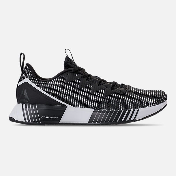 Right view of Men's Reebok Fusion Flexweave Training Shoes in Black/Ash Grey/White