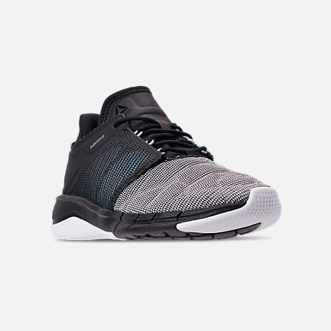 Three Quarter view of Women's Reebok Fast Flexweave Running Shoes in Black