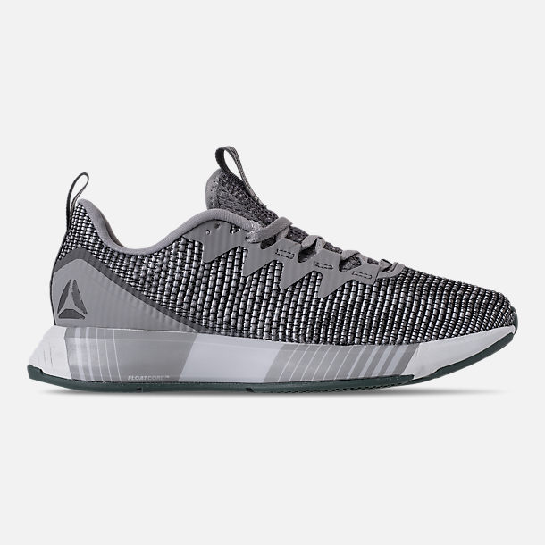 f1e774111826f0 Right view of Women s Reebok Fusion Flexweave Training Shoes in Tin  Grey Shark Spirit