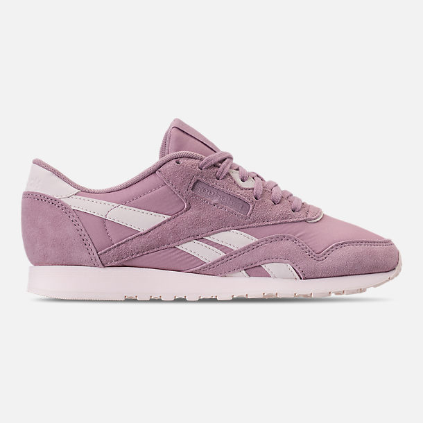 Right view of Women's Reebok Classic Nylon Slim Casual Shoes in Infused Lilac/Pale Pink