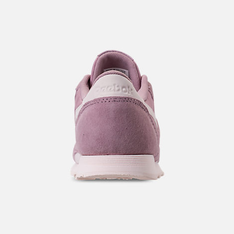 Back view of Women's Reebok Classic Nylon Slim Casual Shoes in Infused Lilac/Pale Pink