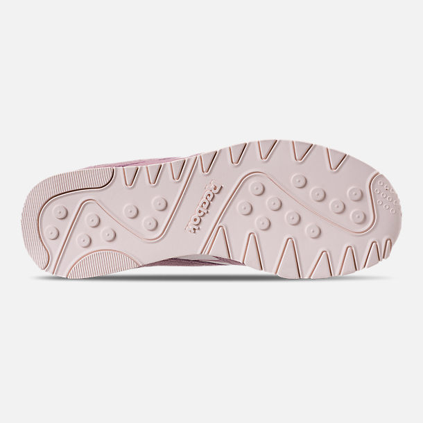 Bottom view of Women's Reebok Classic Nylon Slim Casual Shoes in Infused Lilac/Pale Pink