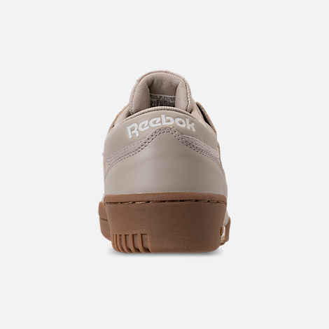 Back view of Men's Reebok Workout Clean Casual Shoes in Parchment/Chalk/Gum