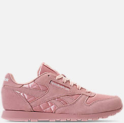 Girls' Grade School Reebok Classic Leather Satin Casual Shoes