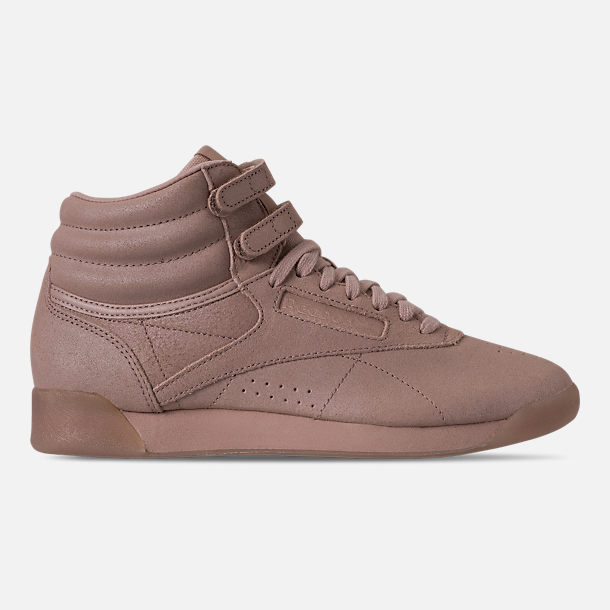 c9f1d636c2d93f Right view of Women s Reebok Freestyle Hi Casual Shoes in Face Bare Beige