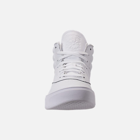 Front view of Women's Reebok Freestyle Hi Nova Casual Shoes in White