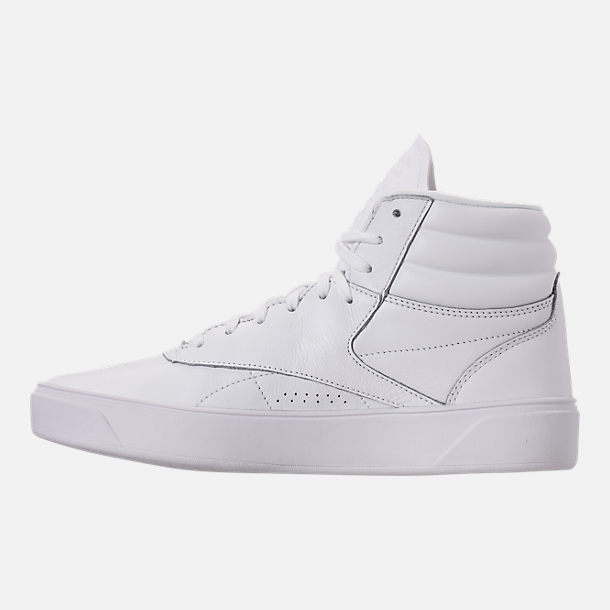 Left view of Women's Reebok Freestyle Hi Nova Casual Shoes in White