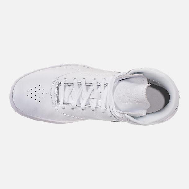 Top view of Women's Reebok Freestyle Hi Nova Casual Shoes in White